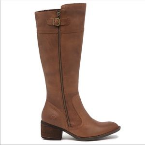Born Fannar Knee High Brown Leather Boots 7